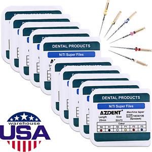 Dental 10Box NiTi Super Rotary File Endodontics SX-F3 25mm For Engine Use Files