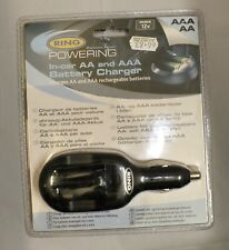 RING IN-CAR AA AND AAA BATTERY CHARGER NOS