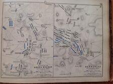 Battle, Cross Beeren, Dennewitz, 1813, Antique Map, A K Johnston Rare M2