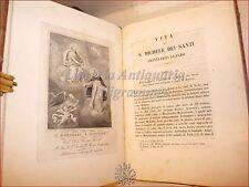 Vita di SAN MICHELE dei SANTI Ordine Trinitari Scalzi 1862 Roma Tavola incisa