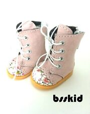 "BJD Yo-SD 1/6 Dollfie 13"" Effner 12"" Kish Doll Shoes PINK Floral Boot"