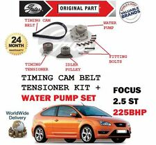 FOR FORD FOCUS ST 2.5 225BHP 2005-> WATER PUMP + TIMING CAM BELT TENSIONER KIT
