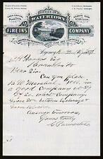 1878 Watertown Ma Fire Insurance Co - Rutland Vt  Norris Winslow - Letter Head