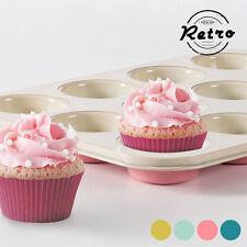 Moldes de hornear rosas para muffins y magdalenas