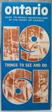 ONTARIO CANADA SOUVENIR TOURISM BROCHURE THINGS TO SEE AND DO 1961 VINTAGE