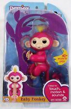 WowWee Fingerlings Bella Pink w/ Yellow Hair Baby Monkey Authentic NIB In Hand