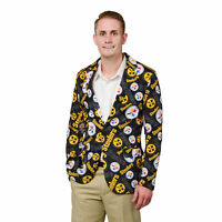 Pittsburgh Steelers NFL FoCo Men's Repeat Logo Ugly Business Jacket Size 44-MED