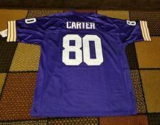 Cris Carter Minnesota Vikings M&N Throwback NFL Jersey Size Large