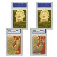 1996-97 KOBE BRYANT Feel the Game Fleer NBA Legacy GOLD RC - Set of 2 - GEM 10