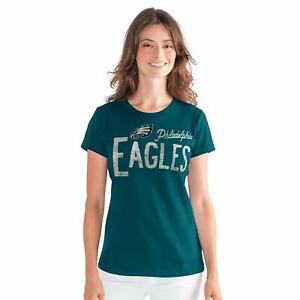 G-III 4her Philadelphia Eagles Women's In the Stands T-Shirt - Marine Green