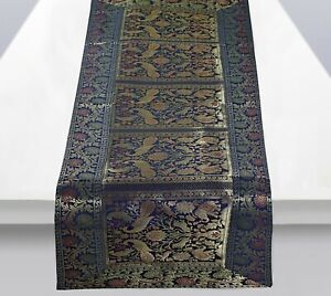 Party Decoration Table Cloth Indien Vintage Silk Blend Elephant Table Runner Mat