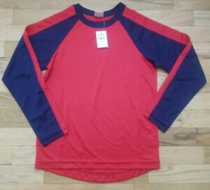NWT HANNA ANDERSSON RED BLUE PLAY EVERY DAY SUN SWIM ACTIVE TEE SHIRT 140 10