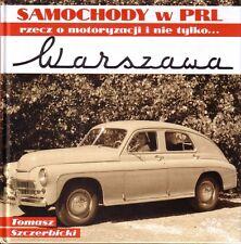 Book - Warszawa - Samochody w PRL - Polish Car 1951-1973 FSO GAZ M20 Pobieda