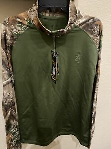Browning base layer silvadur Scent Suppression.  Long Sleeve Shirt  Size L