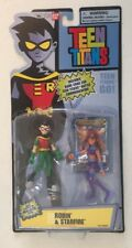 "NEW Bandai Teen Titans Poseable Action Figures 3.5"" Robin and Starfire RARE"