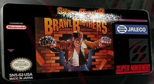 Brawl Brothers SNES Replacement Label Highest Quality Glossy Vinyl Sticker
