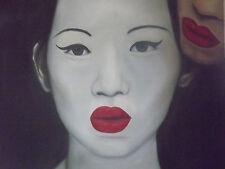 El secreto pintura al óleo lienzo arte Lesbiana Gay Sexy sentual Oriental Original