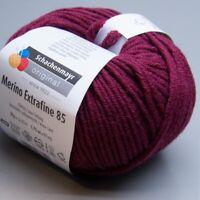 Schachenmayr Merino Extrafine 85 - 233 burgund 50g Wolle (8.50 EUR pro 100 g)