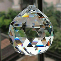 DIY 50MM FENG SHUI HANGING CRYSTAL BALL Sphere Prism Rainbow Suncatcher Sup F3T1