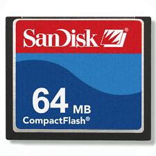 SANDISK 64 Mo CompactFlash Carte Mémoire 64M CF sdcfb-64 véritable sdcfj-64