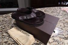 Louis Vuitton Damier Infini Brown Leather Sandals Thongs Slides Mule