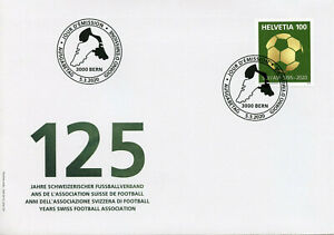 Switzerland Football Stamps 2020 FDC Swiss FA SFV/ASF Soccer Stamps 1v Set