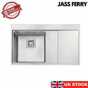 JASSFERRY Stainless Steel Insert Kitchen Sink Single Bowl Drainer 1.2mm