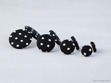 Stoffohrstecker schwarz weiß Punkte gepunktet Ohrstecker Ohrring Stoff Ohrringe