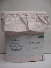 Rachel Ashwell Simply Shabby Chic 100% Cotton Pink Ruffled Sheet Set - Twin