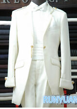 New Fashion Mens Wedding Suits Groom Tuxedos Ivory Bridegroom Tailcoats Bespoke