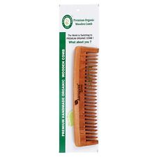 1 PCS. PURE NEEM ORGANIC HANDMADE COMB HAIR BRUSH HOME TRAVEL WIDE TEETH COMB
