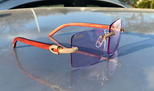 Authentic Cartier Amsterdam X Sage Rosewood Micropaved Buffs Buffalo Sunglasses