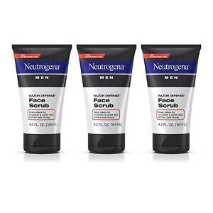 Neutrogena Men Exfoliating Razor Defense Daily Shave Face Scrub,...