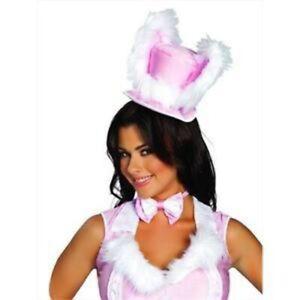 White Bunny Mini Top Hat White Rabbit Roma USA Accessory