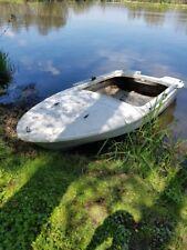 Angelboot/Ruderboot mit Ruder + Alu BodenTop Zustand