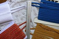 Fancy Centre Thread Poly BRAID 9-10mm Wide - 3 & 5 Metres 3 Colour Choice HT1A