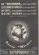 """""""SERIE MICIO""""  Ediz. Simphony  4 BRANI di Vidale, Murey, Dany # SPARTITO"""