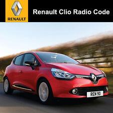 Renault Clio Radio codice STEREO decodifica AUTO UNLOCK Fast servizio Regno Unito tutti i veicoli