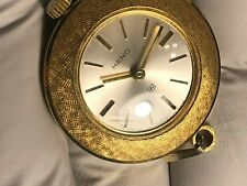 SWISS MADE WIND-UP HENO PENDANT WATCH 10 MICRONS ELECTROPLATED