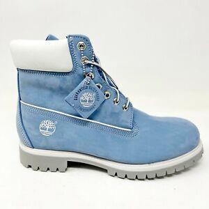 Timberland Mens 6 inch Premium Waterproof Boots Nubuck Blue 26069
