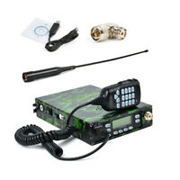 Dual Band Backpack Mobile Radio UHF VHF Mobile Transceiver + Program Cable USA
