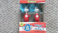"""FUNKO WACKY WOBBLER """"THING 1 & THING 2"""" FROM THE CAT AND THE HAT BOBBLE HEAD"""