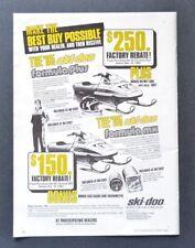 Ski Doo Formula Plus Bonus Helmet Suit Tachometer 1985 Vintage Print Ad 80s