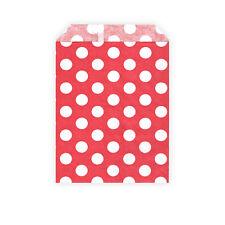 50 bolsas de dulces retro para regalos, favores-Rojo/White Polka Dots - 13 X 18 Cm