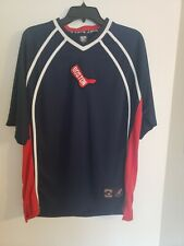 Mens Majestic Cooperstown Collection Red Sox JerseyShirt  Vintage Logo Sz L NWOT