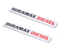 2x OEM Duramax Diesel Allison  Emblems Badge SILVERADO 2500 3500 HD GMC Chrome