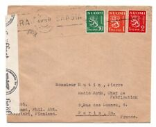FINLAND: Censored cover to France 1943.