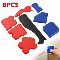 8Pcs/Set Sealant Spatula Caulking Tool Kit Joint Silicone Grout Remover Scraper