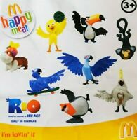 McDonalds Happy Meal Toy 2011 UK Rio Bird Movie Character Plastic Toys - Various