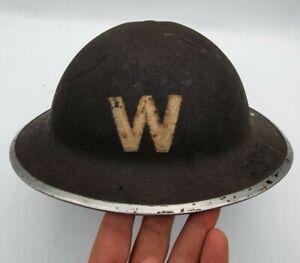 WW2 BRITISH HOME FRONT WARDENS MK 2 HELMET - COMPLETE EXAMPLE
